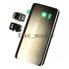 For Samsung Galaxy S7 S7 Edge Rear Battery Back Door Glass + Camera Cover Lens