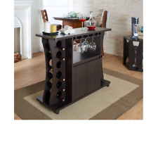 Mini Bar Small Liquor Red Wine Rack For Men Alcohol Cabinet Organizer Cart Table