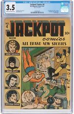 Jackpot Comics #4 CGC 3.5 MLJ Magazine 1941 1st Archie Cover! Key Golden! H8 cm