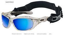 Dirty Dog Wetglasses - Curl II #53113 (Crystal Frame, Blue Polarized Lens)