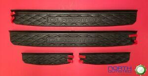 2020-2021 Jeep Gladiator Molded Black Door Sill Guards Set of 4 NEW Mopar OEM