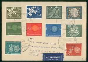 MayfairStamps Cover Germany 1961 to Syracuse New York wwp70151