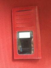 Serendipity Valentino Burgundy Check Book Credit Card Case Wallet Clutch Handbag