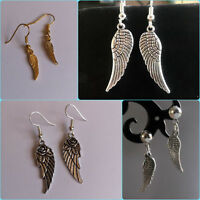 WING  earrings SILVER gold PLATED  angel wings  BOHO charms small large choose