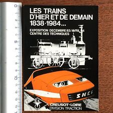 CARTE POSTALE VINTAGE COLLECTION SNCF TGV exposition 1983/1984