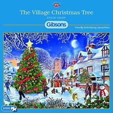 Gibson's The Village Christmas Tree 1000 piece Jigsaw Puzzle snow lights