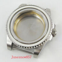 40mm Brushed Mental Watch Case With Sapphire Glass Fit for MIYOTA Movement