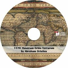 1570 Theatrum Orbis Terrarum by Abraham Ortelius - 53 Maps on CD - Modern Atlas
