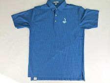 Men's PETER MILLAR Striped Polo Golf Shirt Sz XL Striped Pinehurst 1895