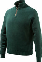 Beretta Men'S Windproof Sweater 1/2 Zip Medium Dk Grn