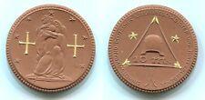 10 Mark Einheitsverband Deutscher Kriegsbeschädigter, Steinzeug mit Golddekor