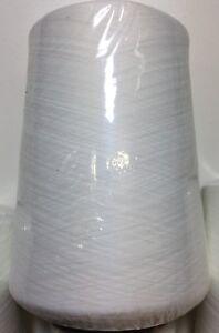 Overlock Garn Farbe weiß NEU & OVP 1 Rolle mit 25.000 Meter top Qualität !