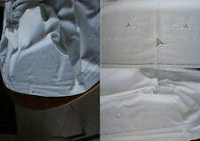 Drap ancien brodé décor liseron