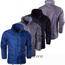Crosshatch Men's Vinston Ripstop Double Zip Windbreaker Jacket Top Pockets