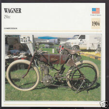 1904 Wagner 250cc 2.5hp American Motorcycle Photo Spec Info Stat Card
