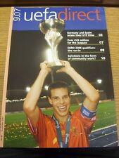 2007 UEFA DIRECT: RIVISTA UFFICIALE-Con Germania & SPAGNA conservare titolo U19
