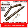 "Audi A3 2.0T Stainless Steel T304 Decat and Downpipe 3"" Bore UK Made"