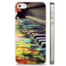 Piano Colourful Art Music CLEAR PHONE CASE COVER fits iPHONE 5 6 7 8 X