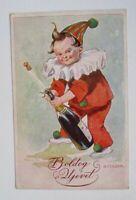 """"""" New Year, Children, Sparkling Wine, Harlequin """" 1915"""