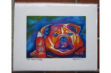 Olde English Bulldog 11x14 signed Giclee - Pet Dog Gifts - Dog Modern