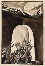 ES LEBE DIE REVOLUTION - EDY LEGRAND - plume et aquarelle signée 1922 Handsign.