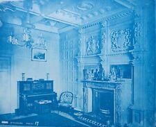 1896 Bedford Lemere & Co Cyanotype Intérieurs Anglais British Interiors Plate 17