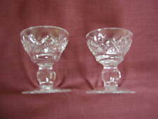 TWO WATERFORD CRYSTAL 'LISMORE'  CANDLE HOLDERS - 1970S