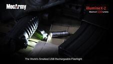 MecArmy illumineX-2 SS 130 Lumen Light Stainless Steel-Uses 10180*1 Included
