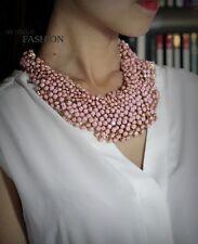 Collier Ras Du Cou Court Doré Mini Perle ROSE Original Ancien Mariage JD 1
