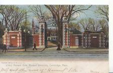 America Postcard - Harvard Gate, Harvard University, Cambridge, Mass - Ref 1158A