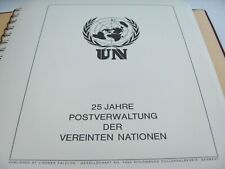 25 Jahre Postverwaltung der UN /Sammlung 1976 Lindner sehr selten - siehe Fotos