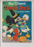 """Donald Duck 26 GVG (3.0 12/52 """"Donald Duck in Trick or Treat!"""" Barks artwork!"""