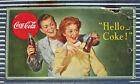 "VINTAGE 1944 COCA COLA CARDBOARD POSTER SIGN 36"" ORIGINAL STORE COKE WWII 1940's"