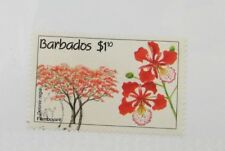 Barbados  $1.10 #825 Θ used flower, tree stamp, Flamboyant, Delonix-regia