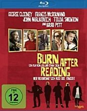 BURN AFTER READING BLU RAY BRAD PITT GEORGE CLOONEY NEU