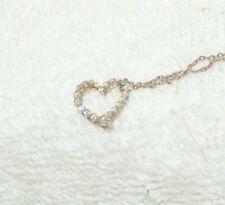 """10k ESTATE 20 DIAMOND HEART PENDANT - 18"""" Sterling Chain"""