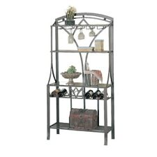 New listing New Baker's Rack Bakers Metal Wood Table Garden Kitchen Storage Wine Glass Shelf