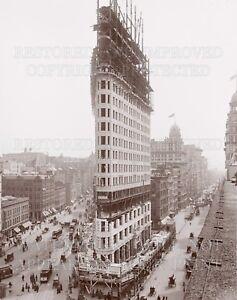 8x10 new photo print: New York City NY Flatiron Building under construction 1902