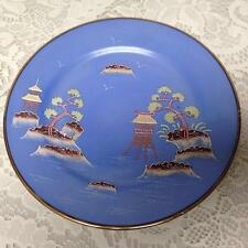 Vintage, Japan, Moriage, Variant Gaudy Blue Willow  7.5in Snack Plate