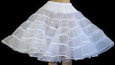 WHITE Square Dance Crinoline Slip Poodle Skirt Sz L L24