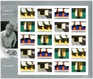US 5594-7 Emilio Sanchez Stamps. IMPERF (NO DIECUTS) Pane of 20 NDC