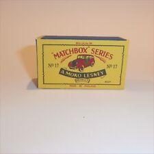Matchbox Lesney 17 c Austin Metropolitan London Taxi Cab empty Repro B style Box