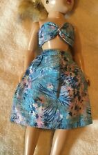 Vintage 50s Mommy Made Blue Hawaiian Bra Skirt Outfit~Ac Toni~Tiny Teen~Jill