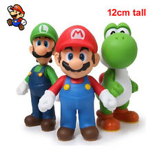 Nintendo Game Super Mario Brothers Luigi Yoshi Monster Action Figures Toy 3pcs