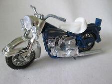1970 Era Blue Diecast Harley-Davidson Motorcycle #1504 Hong Kong (Minty)