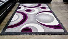 5x8   RUGS   AREA RUGS   CARPET FLOORING   PURPLE GREY WHITE   MODERN