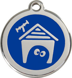 """Red Dingo """"Dog House"""" Engraved Dog & Cat ID Tag - Free Engraving - 11 Colours"""