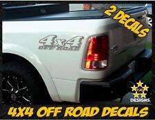 4x4 OFFROAD Truck Bed Decal Set METALLIC SILVER for Dodge RAM Dakota