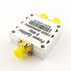 Signal Repeater 1.5-8GHz Power Splitter Booster Divider 2-Way SMA Female Antenna