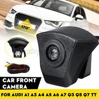 170° CCD HD Telecamera Vista Frontale For Audi A1 A3 A4 A5 A6 A7 Q3 Q5 Q7 TT